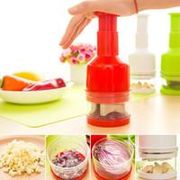 Type de pression de main en acier inoxydable Shredder La cuisine Chop Gingembre Oignon Légumes Cracker Coupe Oignons Dispositif
