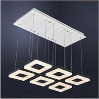 거실 / 침실 / 식당 3/6 머리에 대 한 현대적인 스타일 단순 LED 펜 던 트 조명 금속 아크릴 샹들리에 조명 램프 정착물
