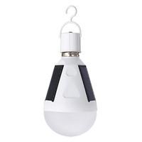 E27 12W Lampe solaire rechargeable 85-265V Lampe à économie d'énergie LED Lampe intelligente Lampe solaire rechargeable de secours pour camping