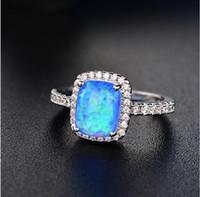 Victoria Wieck 2017 Gioielli di alta qualità di vendita superiore 925 Cuscino in argento sterling Forma Opal CZ Diamond Carino classico donne Wedding Band Ring regalo