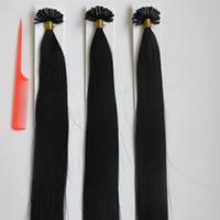Наращивание волос кончиком ногтя 20 дюймов U