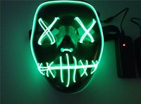 NEW EL Wire Mask Light Up Neon Skull LED Mask For Halloween ...