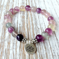 SN1036 Natural Fluorite Yoga Bracelet High Quality Chakra Je...