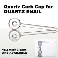 Pure Quartz Carb Casquette avec un Dabber pour 15.5mm et 19.5mm Quartz Banger Monsieur 4mm / 20mm Huile de chauffage