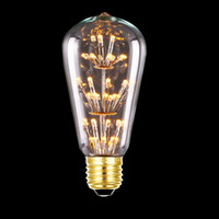 3W ST64 LED Filament Bulb E27 Yellow Warm White Edison Light...