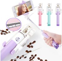 Universal Handheld Wired Candy Selfie Stick For iPhone 6 5 S...