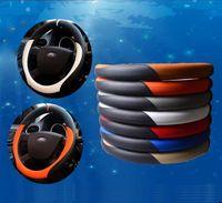 عالمي ستوخر الجلود غطاء عجلة القيادة سيارة، سباق عجلة القيادة يغطي volante OMP الأسود ل Qashqai 36CM 38CM