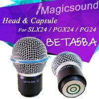 1 PCS Top Quality Microfone Sem Fio Handheld MIC Cabeça Cápsula Grill para PGX24 / SLX24 / PG24 / Beta58a