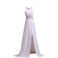 Robe De Soiree 2016 Elegant Halter Sleeveless Long Evening D...