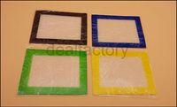 도매 실리콘 비 스틱 실리콘 Dab 매트 왁 스 140 * 115 mm (5.51 * 4.52 인치) BHO 왁 스 Dab 패드 매트