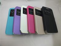 Para Sony L1 E6 XA1 XA1 Ultra XZ Premium Huawei 6S Y5 Lite 2017 Honor 9 Y7 Y3 Y5 2017 Y6 2017 Ventana de visualización inteligente Función Funda con tapa de cuero