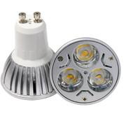 Peut être obscurci GU10 LED ampoule de projecteur 3w 5w cree tache celing lumière boîtier en aluminium éclairage LED AC110-240V