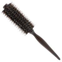 Анти-staic Brislte кисть деревянная ручка конусности вьющиеся волосы щеткой круглой Роллинг гребень волос для профессионального использования