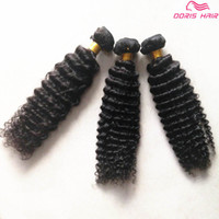 TOP Grade 8A brazilian deep curly human hair sew in weave 10...