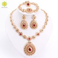 Bridal Jewelry Sets High Quality Gold Plated Jewelry Set Tre...