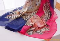 6 Kolory Kobiety Sowa Szal Szal Nowa Moda Noszenie Plażowa Plaża Cover Up Tassel Silk Scarf Wrap Szale Szaliki Kobiety