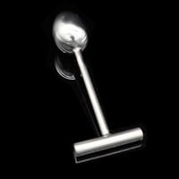Нержавеющая сталь Длинная Анальная пробка Связывание Фетиш Гей Т-образный наконечник с головкой Extreme Joy Sex Toy A118