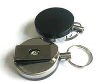 50pcs Retractable Metal Card Badge Holder Steel Recoil Ring ...