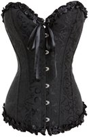 Gothic Embroidered Brocade Corset body lift shaper Bustier B...