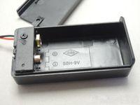 Suporte de bateria fechado 9V com ligado / off wire 9 volts caixa de carga