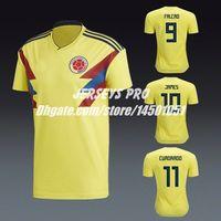Colombia Home Shirts Russia World Cup 2018 Soccer Jersey Yellow James  Rodriguez Juan Cuadrado Radamel Falcao Carlos Valderrama Fredy Guarin b2da5d0c2