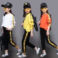 OFF WHITE Kids Girls Leisure Sweater Suit 2017 In Spring and...