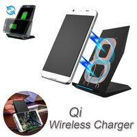 Black QI Wireless Charger For Samsung Galaxy S8 Plus s6 s7 n...