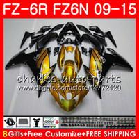 Corpo para YAMAHA FZ6N FZ-6N FZ6R 2009 2010 2011 2012 2013 Ouro preto 2014 2015 82NO44 FZ-6R FZ6 R FZ 6N FZ 6R 09 10 11 12 13 14 15 Carenagem