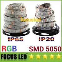 5050 LED RGB Strips Lights 12V impermeabile LED Rope Strisce Lights 5m 300LEDS per l'illuminazione a barre KTV di Natale