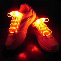 Cadarços de laço de sapato de cor laranja EL piscando El Led Shoe Lace