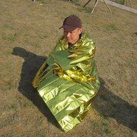 2.1 * 1.6m Manta emergente Rescate Primeros auxilios Impermeable Viaje Campamento Tienda de campaña Caminata al aire libre Survive Silver Tool Hunt Thermal