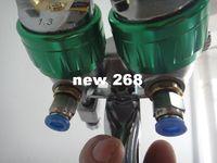 Aço inoxidável de dois componentes de duas componentes de dois componentes Pulverizador de bico duplo Cabeça Dual Galvanizing Fria Peças sobressalentes