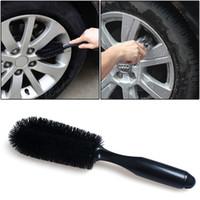 Rueda de coche Llanta Llanta Eje Cepillo Motor Motocicleta Neumático Eliminador de suciedad Limpiador Cepillo de limpieza Negro