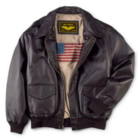 Men's Classic A2 Lapel Leather Bomber Jacket Luxury Lane Leather Jacket US Navy flight suit big size for 130-140kg