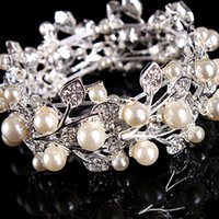 Bride wedding accessories gorgeous retro pearl bracelet silv...