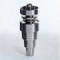 DHL gratuit Top qualité 6 en 1 Réglable Domeless GR2 Dab Clou Titanium Nails Mâle Femelle pour les plates-formes pétrolières Bang en Verre en stock
