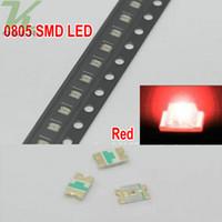 3000 pz / bobina SMD 0805 (2012) LED rosso Lampada diodi Ultra Bright SMD 2012 0805 SMD LED Spedizione gratuita