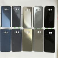 Ursprünglicher neuer Ersatz-Batterie-Tür-Gehäuse-Abdeckungs-Fall für Samsung-Galaxie S8 G950 G950P S8 plus G955P Platten-Shell mit anhaftendem Aufkleber