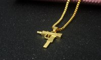 Free shipping New Uzi Gold Chain Hip Hop Long Pendant Neckla...