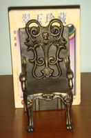 2 개 조각 골동품 주철 의자는 북 엔드 북 엔드 높음 품질의 중금속 홈 오피스 책상 테이블 장식 연구 빈티지 공예 스탠드 모양