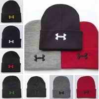 Brand UA Beanies Knitted Hats Designer New Winter Warm Thick...