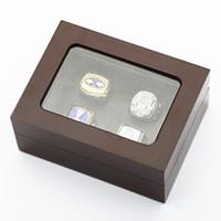 Заводская цена высокое качество четыре слота деревянный дисплей коробка кольца 16*12*7(см) падения груза