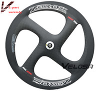 High grade T800 Full carbon 4- spoke carbon wheel, Zero- 4 clin...