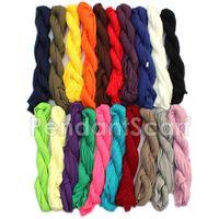 100 pedazos / porción bufanda en blanco para los accesorios de la bufanda de la joyería de DIY, componga su propio estilo bufandas pendientes
