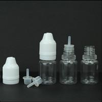 Leere Eliquid Tropfflasche für Eliquid Ejuice 5ml 10ml Nadelflasche mit kindersicheren Verschlüssen Lange, dünne Tropfflasche Weiche Plastikflasche DHL-FREI