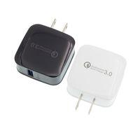 Adattatore rapido per caricabatterie da muro US Plug Qualcomm 3.0 a ricarica rapida 5V / 3A 9V / 2A 12V / 1.6A per iPhone per Samsung LG Huawei 50 pezzi / su