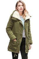 2017 Ejército Verde Chaqueta de Invierno Mujeres Nuevo Invierno Para Mujer Parka Casual Outwear Abrigo de Piel de mujer abrigo Manteau Femme Mujer Ropa FS1915