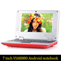 Cheap 7inch Mini laptop Android notebook VIA8880 Dual Core A...