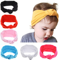 Newborn Baby Girls Knotted Cross Elastic Headbands Infant Ki...