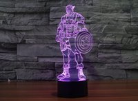 2017 New Style Captain America 3D Optical Illusion Light 9 L...